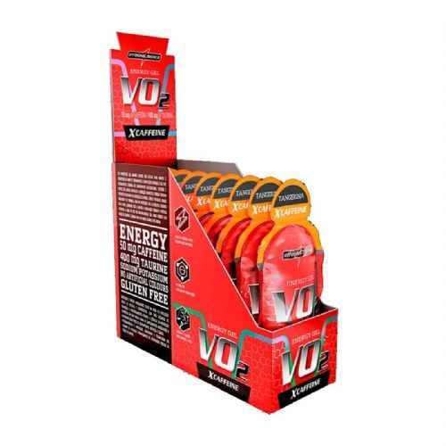 Vo2 Energy Gel X-Caffeine - 10 Sachês 30g Tangerina - IntegralMédica no Atacado