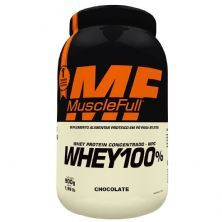 Whey 100% Concentrado - 900g Chocolate - MuscleFull