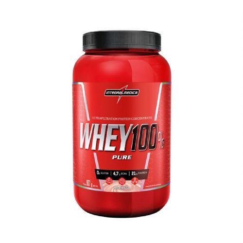 Whey 100% Pure - 907g Morango - IntegralMédica no Atacado