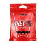 Whey 100% Pure - 907g Refil Morango - IntegralMédica