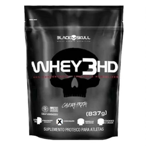 Whey 3HD - 837g Refil Chocolate - Black Skull no Atacado