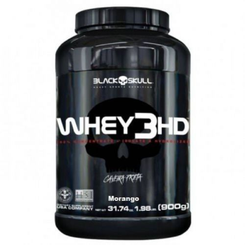 Whey 3HD - 900g Morango - Black Skull no Atacado