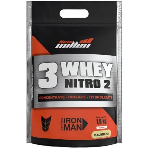 Whey 3W Nitro2 - 1800g Refil Baunilha - New Millen no Atacado