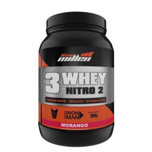 Whey 3W Nitro2 - 900g Morango - New Millen no Atacado