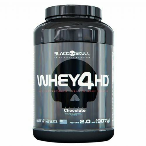 Whey 4HD - 907g Chocolate - Black Skull no Atacado