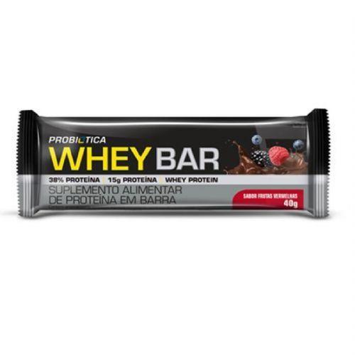 Whey Bar - 1 Unidade 40g Frutas Vermelhas - Probiótica no Atacado