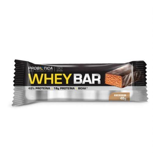 Whey Bar - 1 Unidade Amendoin - Probiótica no Atacado