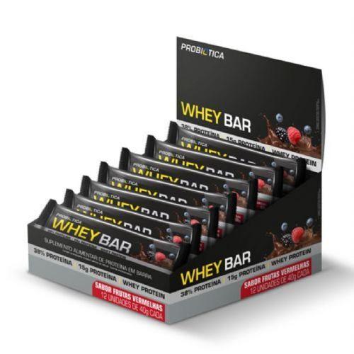 Whey Bar - 12 Unidades 40g Frutas Vermelhas - Probiótica no Atacado