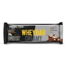Whey Bar Creamy - 1 Unidade 38g Amendoim Com Caramelo - Probiótica
