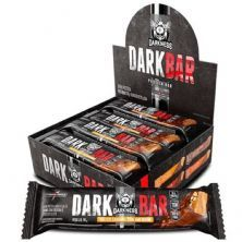 Whey Bar Darkness - 8 Unidades 90g Salted Caramel com Amendoim - IntegralMédica*** Data Venc. 28/02/2021
