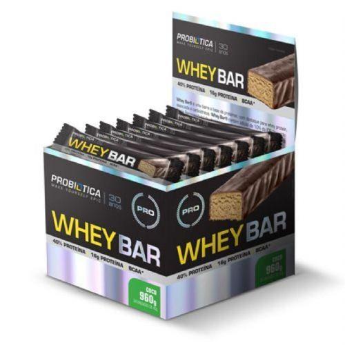Whey Bar High Protein - 24 Unidades 40g Coco - Probiótica no Atacado