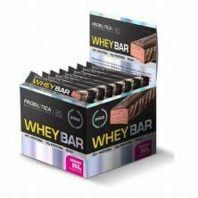 Whey Bar High Protein - 24 Unidades 40g Morango - Probiótica