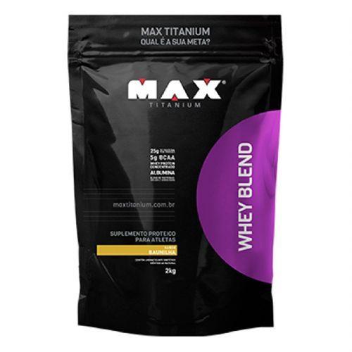 Whey Blend - 2000g Refil Baunilha - Max Titanium no Atacado