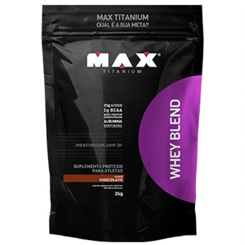 Whey Blend - 2000g Refil Chocolate - Max Titanium no Atacado