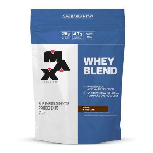 Whey Blend - 2000g Refil Chocolate - Max Titanium no Atacado