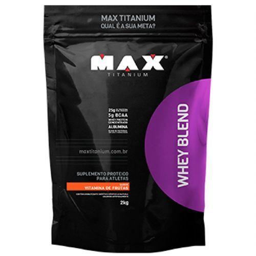 Whey Blend - 2000g Refil Vitamina de Frutas - Max Titanium no Atacado