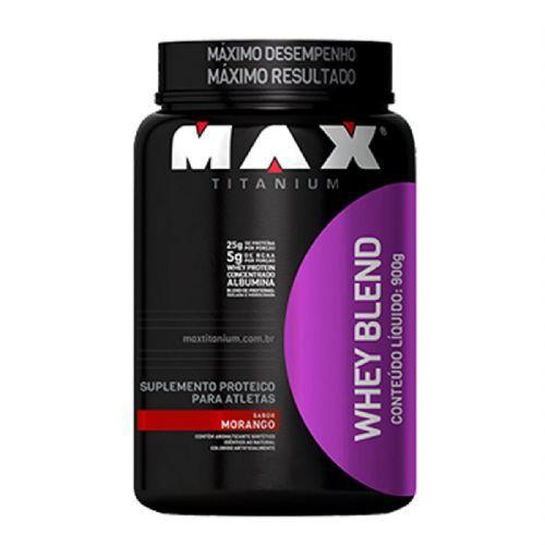 Whey Blend - 900g Morango - Max Titanium no Atacado