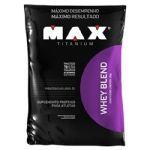 Whey Blend Refil - Morango 2000g - Max Titanium*** Data Venc. 13/10/2017