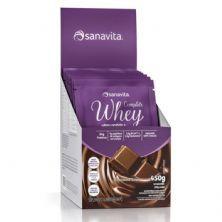 Whey Complete - 15 Sachês de 30g Chocolate Suíço - Sanavita*** Data Venc. 27/09/2020