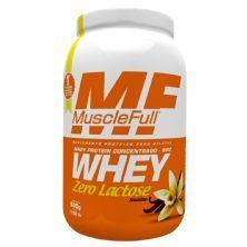 Whey Concentrado Zero Lactose - 900g Baunilha - MuscleFull