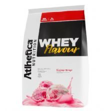 Whey Flavour - 850g Milkshake Morango - Atlhetica Nutrition