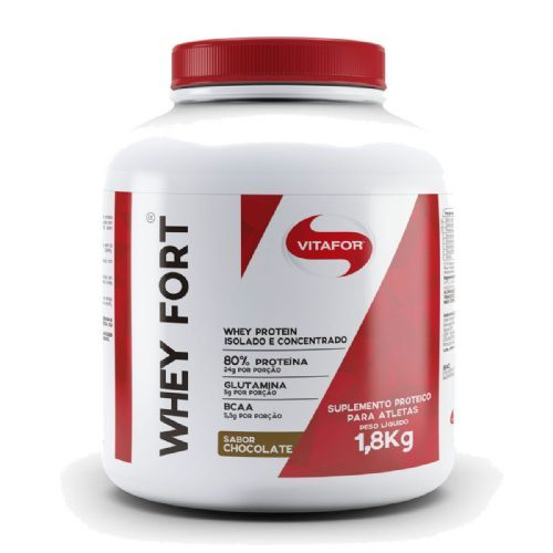 Whey Fort - 1800g Chocolate - Vitafor no Atacado