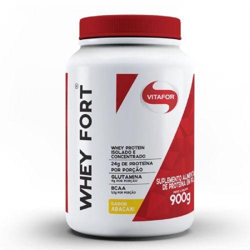 Whey Fort - 900g Abacaxi - Vitafor no Atacado