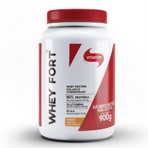 Whey Fort - 900g Laranja com Acerola - Vitafor no Atacado