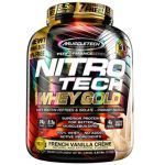 Whey Gold Nitro Tech - 2510g French Vanilla Creme - Muscletech no Atacado
