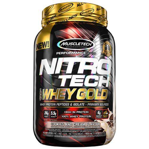 Whey Gold Nitro Tech - 999g Cookies and Cream - Muscletech no Atacado