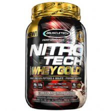 Whey Gold Nitro Tech - 999g Cookies and Cream - Muscletech