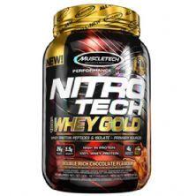 Whey Gold Nitro Tech - 999g Duble Rich Chocolate - Muscletech
