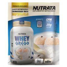 Whey Grego - 1 Sachê de 40g Beijinho - Nutrata