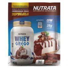 Whey Grego - 1 Sachê de 40g Cheesecake Chocolate - Nutrata*** Data Venc. 30/11/2020