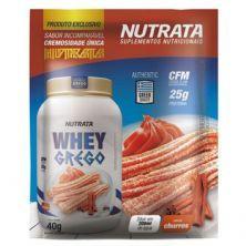 Whey Grego - 1 Sachê de 40g Churros - Nutrata*** Data Venc. 30/11/2020