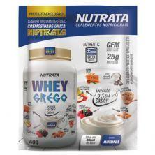 Whey Grego - 1 Sachê de 40g Iogurte Natural - Nutrata