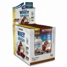 Whey Grego - 12 Sachês de 40g Cheesecake de Chocolate - Nutrata*** Data Venc. 30/11/2020