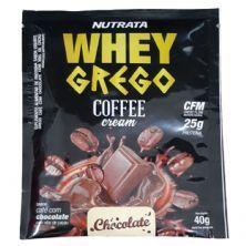 Whey Grego Coffee Cream - 1 Sachê 40g Café com Chocolate - Nutrata