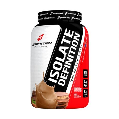 Whey Isolate Definition - 900g Chocolate com Amendoim - BodyAction no Atacado