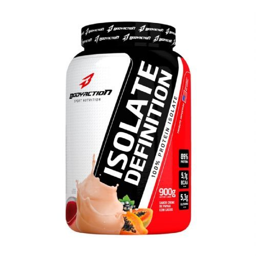 Whey Isolate Definition - 900g Creme de Papaia com Cassis - BodyAction no Atacado