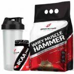 Whey Muscle Hammer - 900g Chocolate + BCAA 100 Cápsulas + Coqueteleira 600ml - OtimaNutri no Atacado