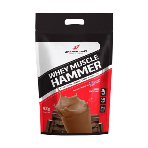Whey Muscle Hammer - 900g Refil Chocolate - BodyAction no Atacado