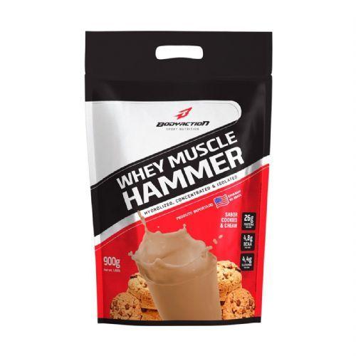 Whey Muscle Hammer - 900g Refil Cookies e Cream - BodyAction no Atacado