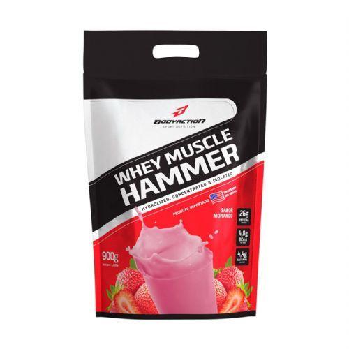 Whey Muscle Hammer - 900g Refil Morango - BodyAction no Atacado