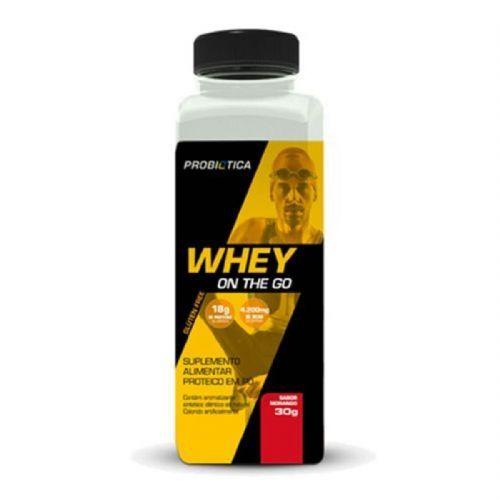 Whey On The Go - 30g Morango - Probiotica no Atacado