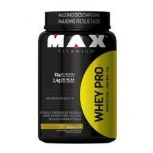 Whey Pro - 1000g Baunilha - Max Titanium