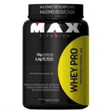 Whey Pro - 1000g Morango - Max Titanium