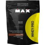 Kit 5 Whey Pro - 1500g Refil Chocolate - Max Titanium