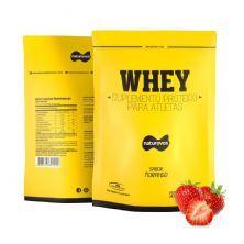 Whey Protein - 907g Refil Morango - Naturovos