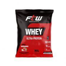 Whey Ultra Protein - 900g Refil Morango - FTW